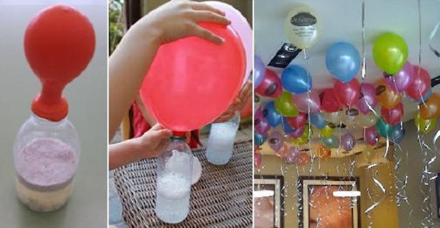 Truco para inflar globos flotadores sin utilizar helio. No gastes dinero, tendrás globos flotadores utilizando materiales que casi todos tenemos en casa