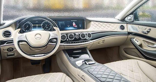 Nội thất Mercedes Maybach S650 2018 được làm từ các chất liệu cao cấp và hạng đầu hiện nay