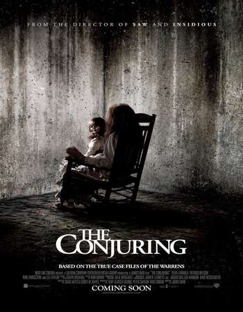 Poster Of The Conjuring 2013 Dual Audio 450MB BRRip 720p ESubs HEVC Free Download Watch Online downloadhub.net