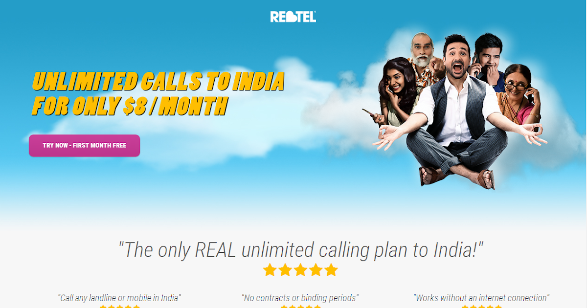 Unlimited cheap calls to Indian mobiles and landlines, $8