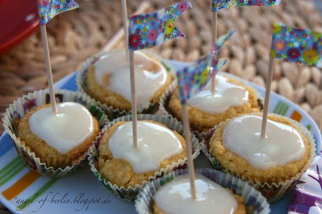 glutenfreie, vegane Vanille Cupcakes