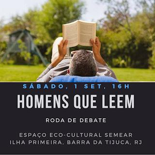 1 set, 16h: Homens que Leem - Roda de Debate