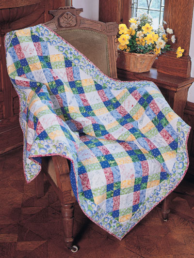 Love of Patchwork Friendship Quilt Free Pattern designed by Judith Sandstrom of Free Quilting