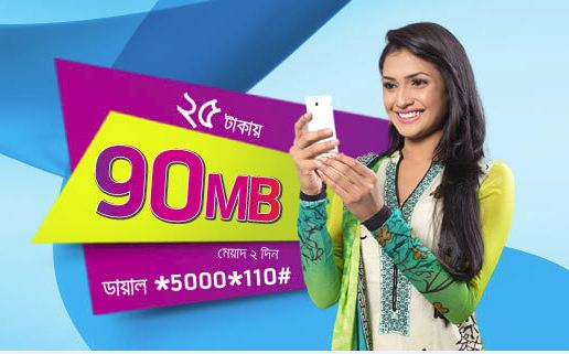 GrameenPhone 90MB Internet at 25tk