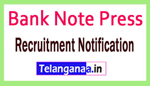 Bank Note Press BNP Recruitment