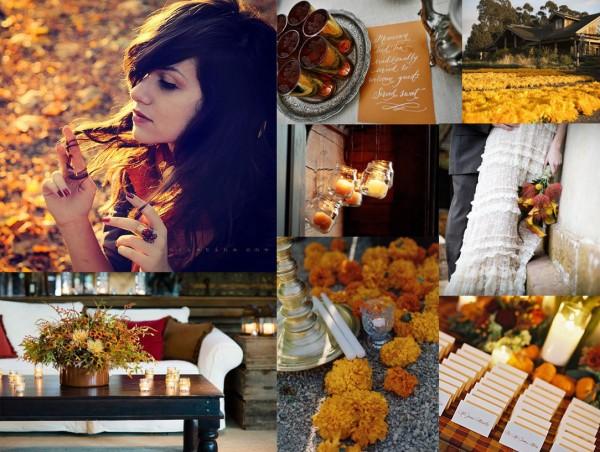 Fall Wedding Inspiration Beige: Runway Fashions About Weddings: Autumn Wedding Color