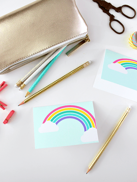 FREE PRINTABLE RAINBOW CARD
