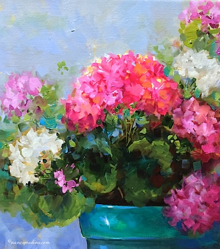http://www.nancymedina.com/available-paintings/spring-sparkle-pink-geraniums