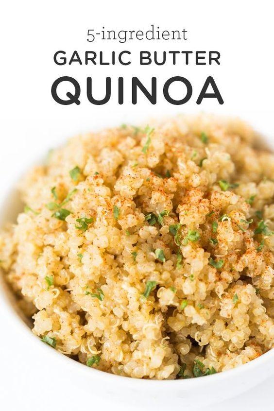 5-Ingredient Garlic Butter Quinoa