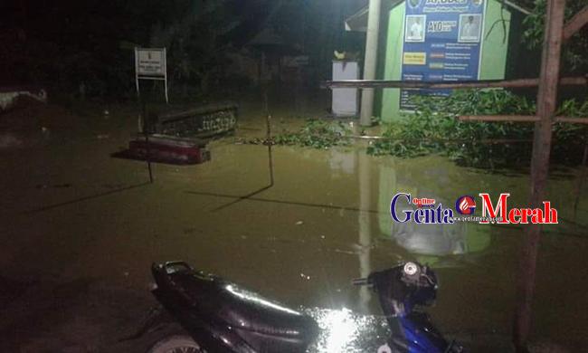 Akibat Air Meluap, Tiga Desa di Pesawaran Terendam Banjir