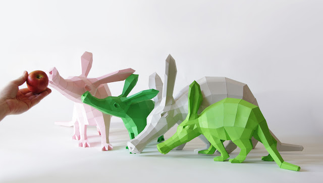 Green Pear Diaries, DIY, Wolfram Kampffmeyer, Paperwolf, esculturas de papel