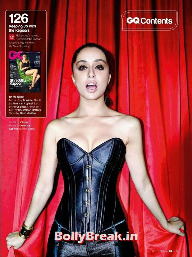 Shraddha Kapoor in Black Leather Bikini dress