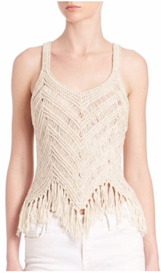 Tassel Trimmed Tank Top