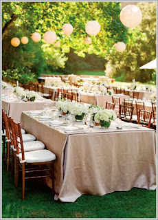 outdoor wedding paper lanterns