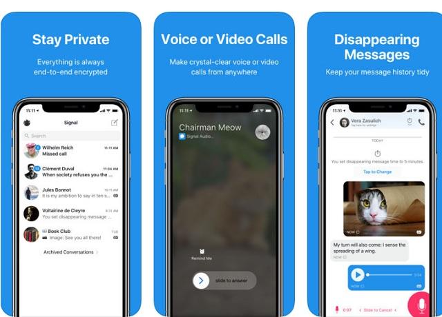 Signal - Στείλτε μηνύματα και κάντε βιντεοκλήσεις δωρεάν, με απόλυτη ιδιωτικότητα