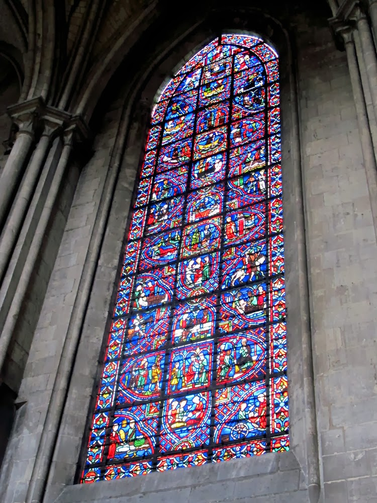 Saint Julian stained glass window in Rouen cathedral