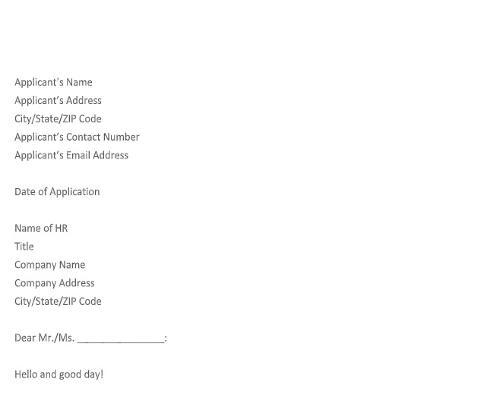 Job Application Letter for Assistant
