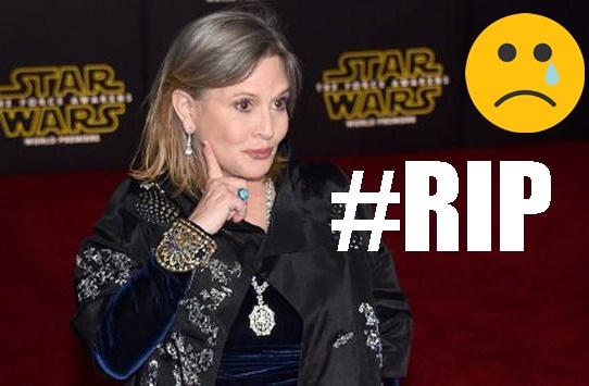 Carrie Fisher, Pemeran Princess Leia Organa di Film Star Wars Meninggal Dunia