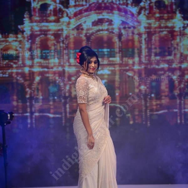 Sija Rose latest photos in saree from Kerala Fashion League