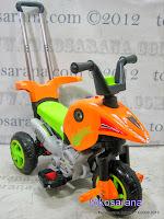 Motor Mainan Aki Pliko PK301 Hibrid: Dinamo Motor dan Gowes 2