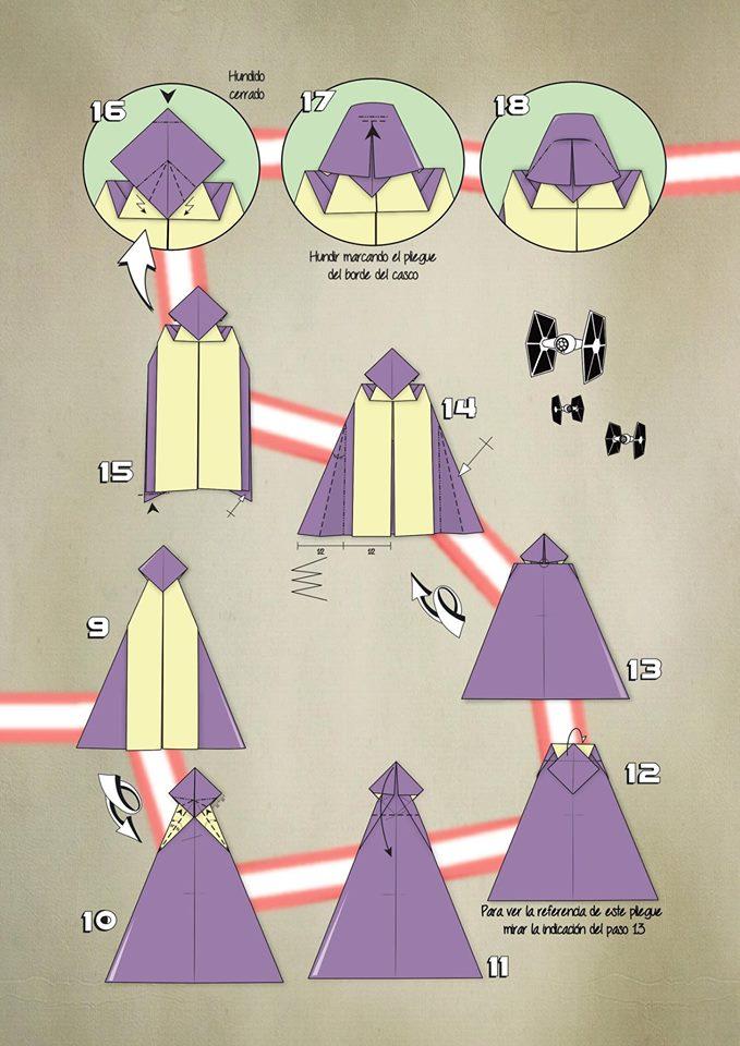 Nave de star wars (X-WING) │ origami | PapercraftSquare.com | 960x679