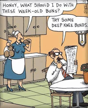 Funny Week Old Buns Knee Bends Cartoon Picture