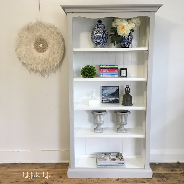 hand painted bookcase by Lilyfield Life