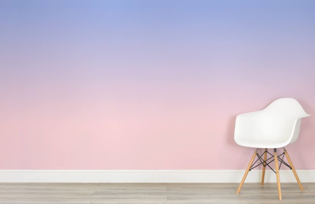 Ombre Walls with Ombre Wallpaper