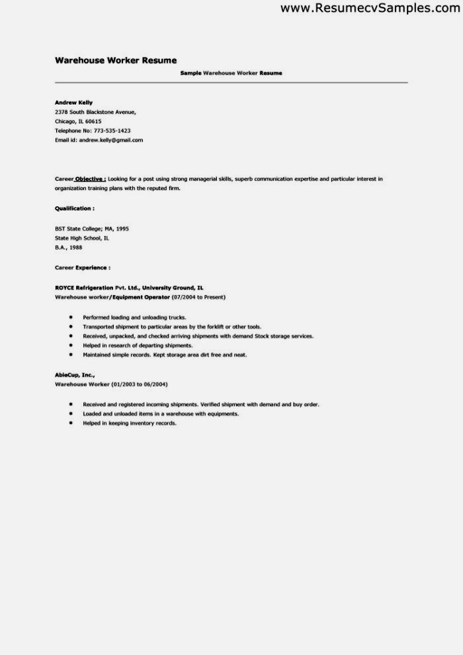 Warehouse Employee Resume Templates charity worker resume sales – Warehouseman Resume