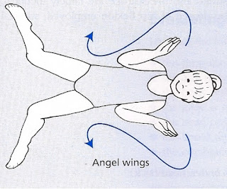 Views from above an image of a female swimmer on their back with lines demonstrating the butterfly action of the arm movement and the position of the legs at the start of that movement