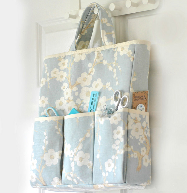 Craft Organizer Bag  Sewing Tutorial. How-to step by step