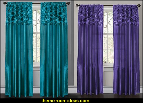 Lush Decor Circle Dream Window Curtain Panels  Peacock theme decorating - peacock theme decor - exotic style decorating - Peacock Decorations - Peacock Nursery