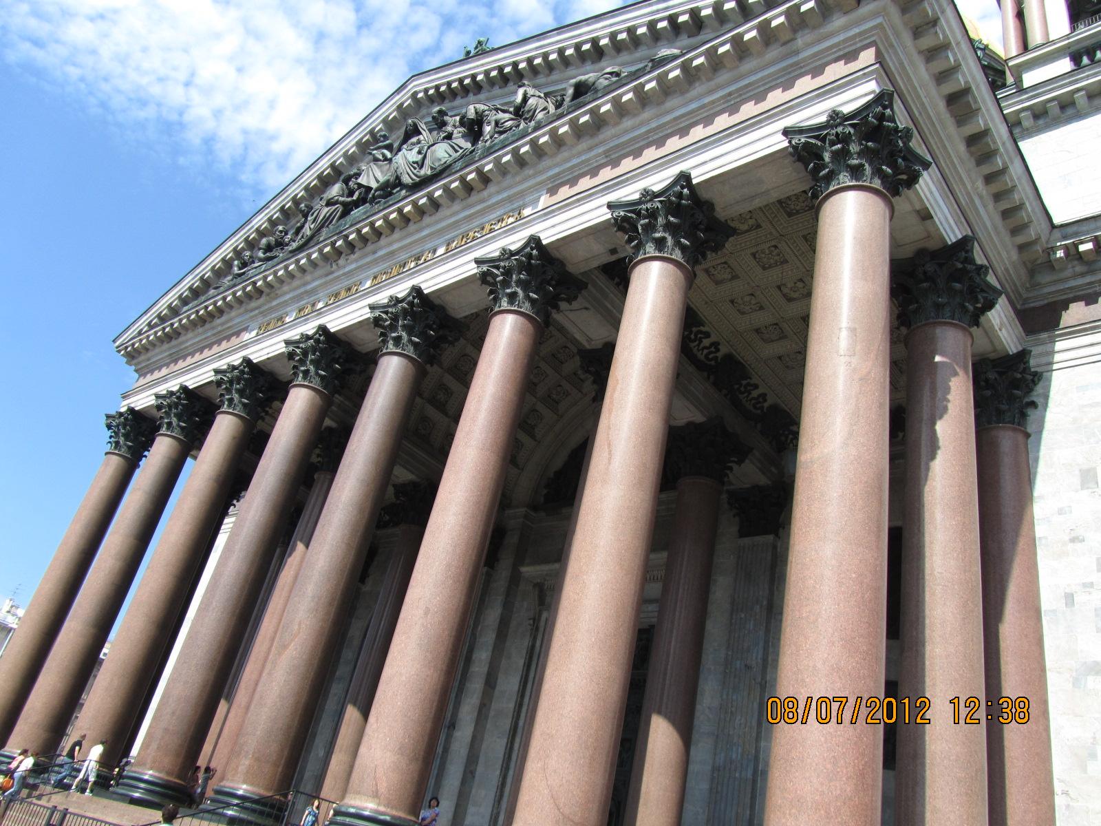 Полые колонны Исаакиевского собора?