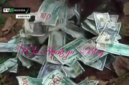 Shrine FULL of Dollar Notes Destroyed In Ikorodu ... See Photos