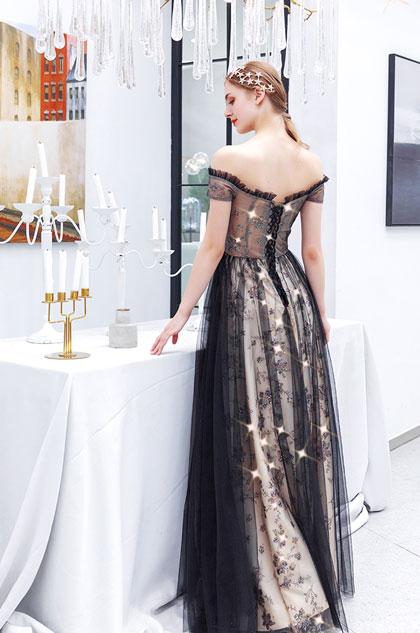 sexy black off the shoulder dress