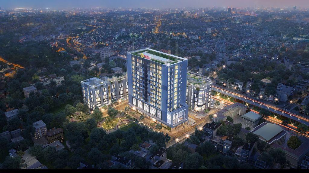 Dự án 83 Hào Nam với tổng thiết kế gồm khối cao tầng và khối thấp tầng.  Khối thấp tầng được thiết kế với dãy liền kề, shophouse hiện đại.