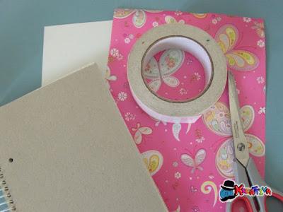 personalizzare quaderni con carta regalo