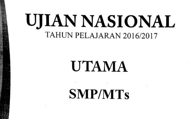 oal Ujian Nasional UN SMP Tahun 2017 Semua Mapel