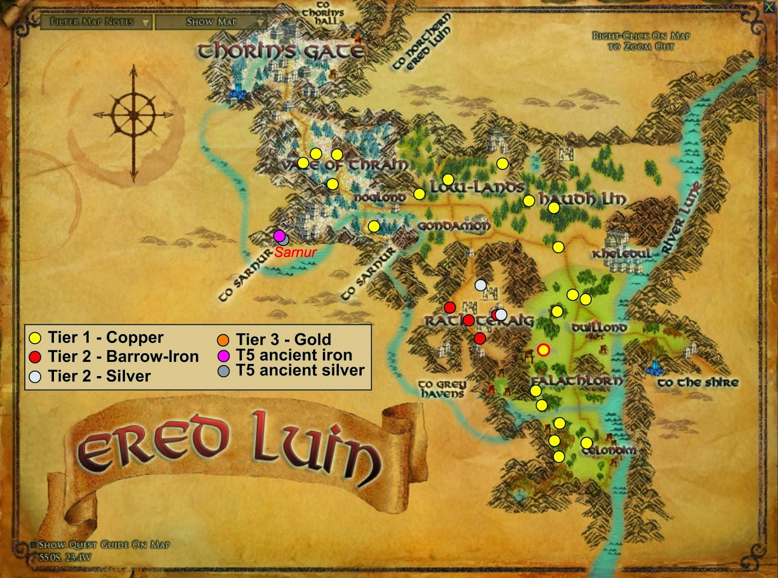Wonderful Places in LOTRO's Middle Earth: Ore in Lotro, and