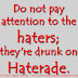 Do not pay attention to the haters; they're drunk on Haterade.