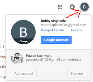 how to change default Gmail account in phone
