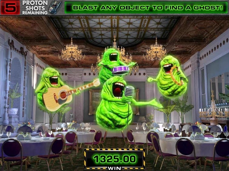 Ghostbusters Video Slot Screen