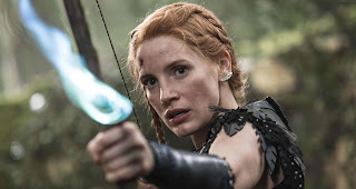 "Jessica Chastain, Fierce Warrior in ""The Huntsman: Winter's War"""