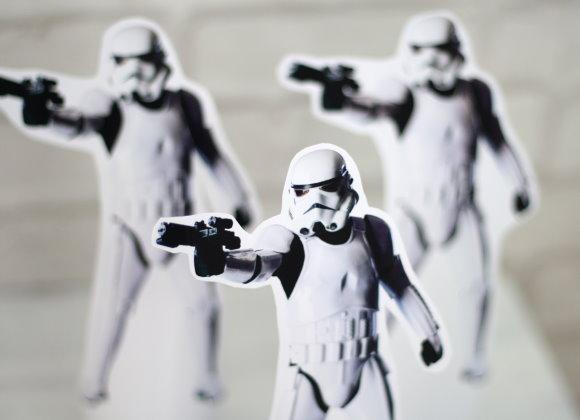 Storm Trooper - Star Wars Kindergeburtstag - Partyspiele und Ideen. titatoni.de