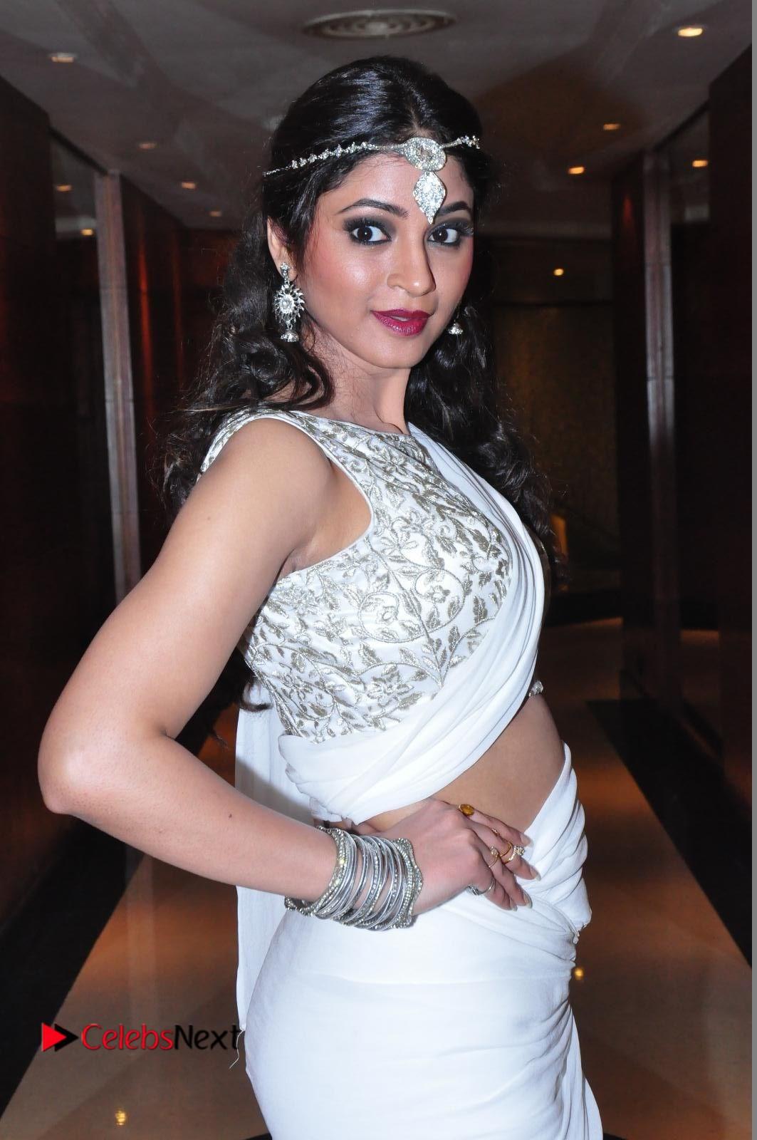 Shilpi Sharma sizzles in White Saree at Kotikokkadu Audio Launch