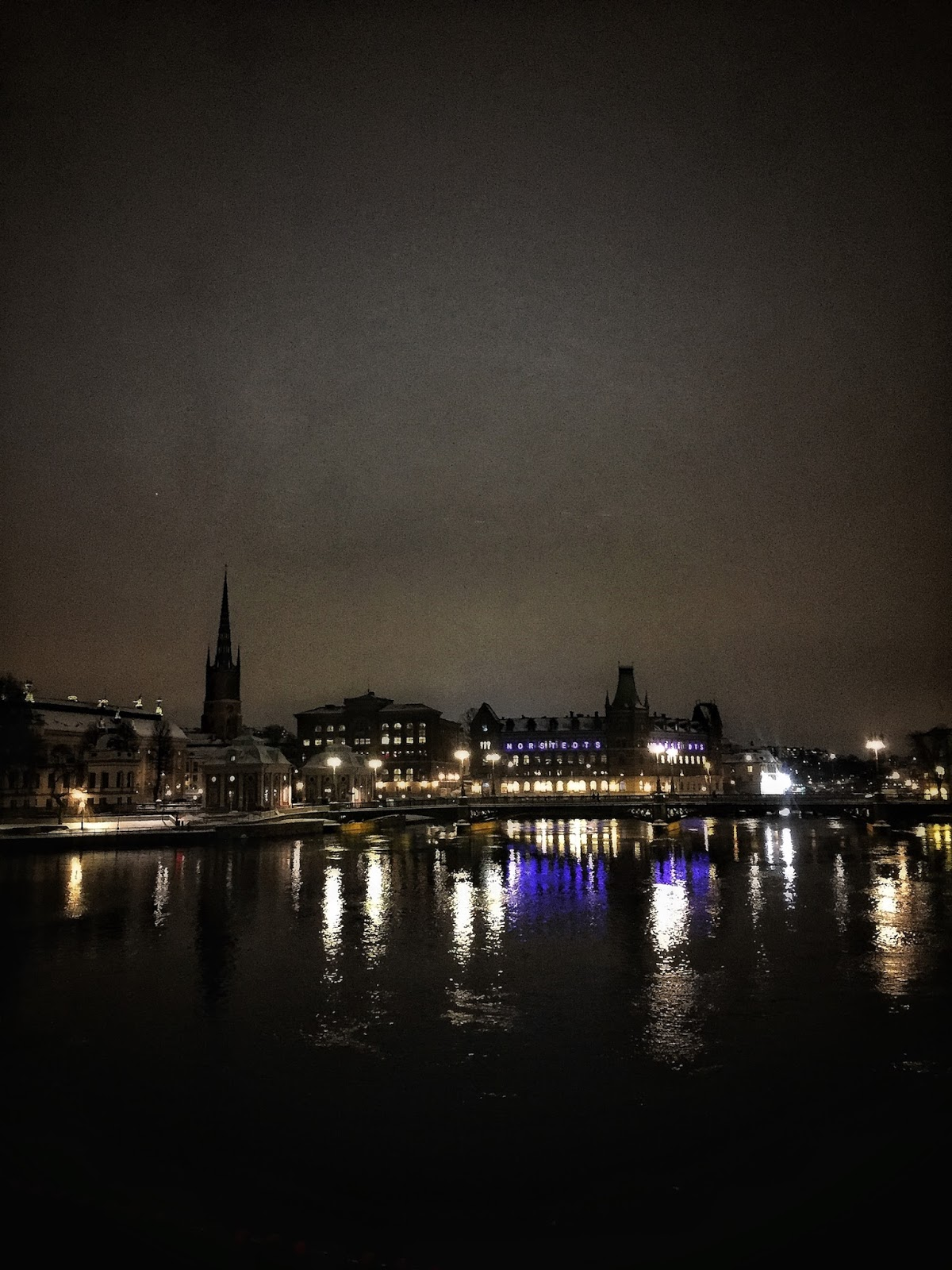 Travel diary stockholm sweden by night