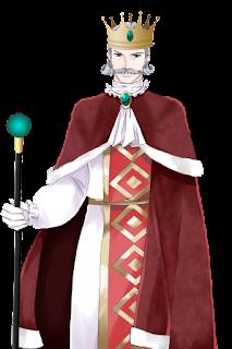 赤い服を着た王の立ち絵フリー素材