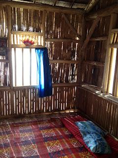 inside the cottage at Kiluan bay