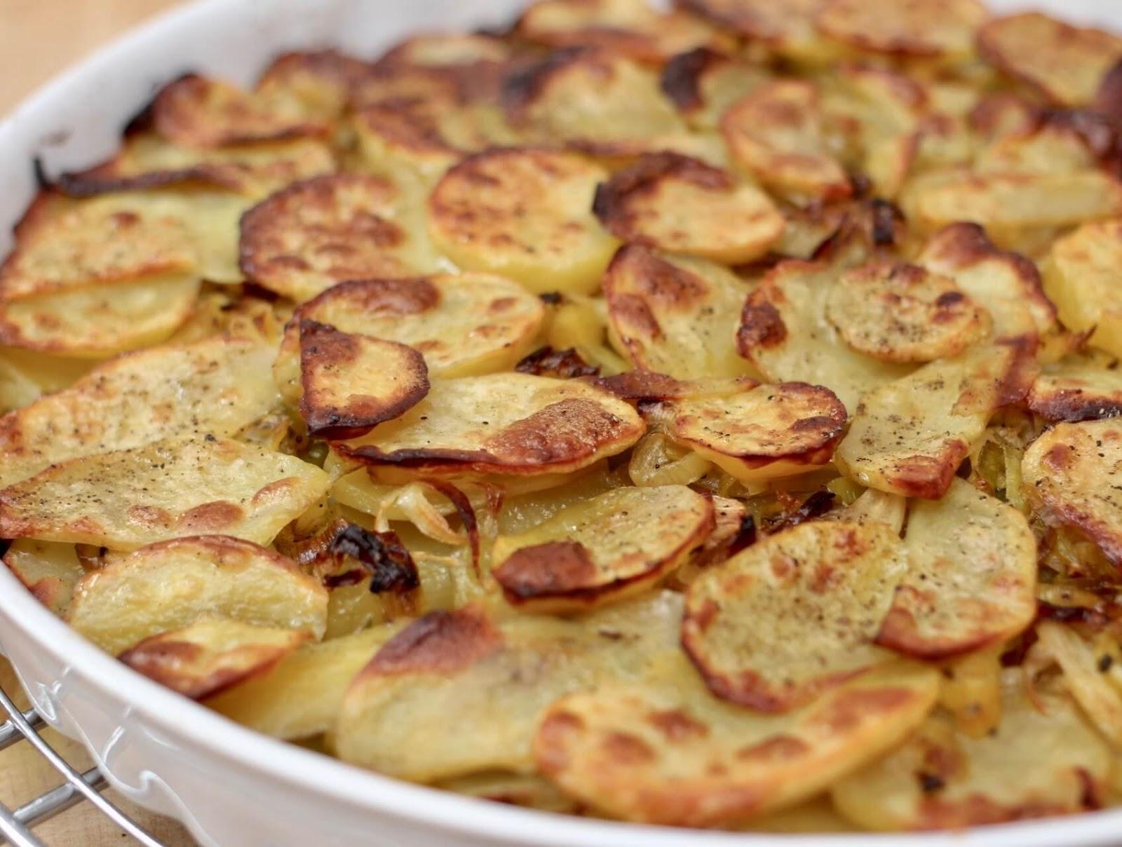 Vegane Kartoffel Lauch Galette