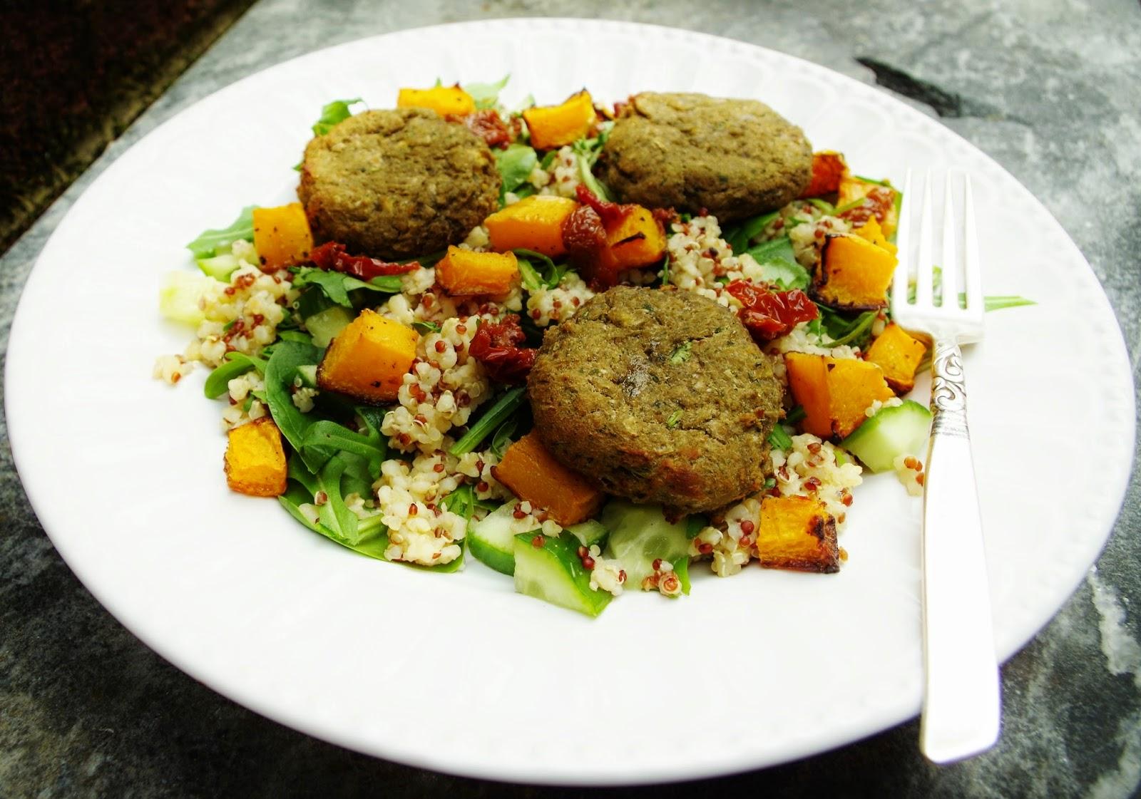 3 Grain Squash & Falafel Salad
